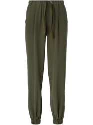 Red Valentino Gathered Ankle Trousers Green