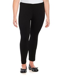 Jessica Simpson Plus Sandra Knit Ponte Pants Black