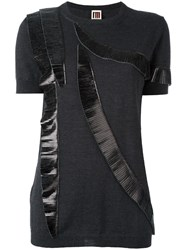 I'm Isola Marras Pleated Detail Knitted Top Grey