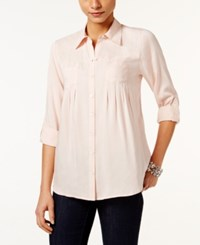 Styleandco. Style Co. Roll Tab Shirt Only At Macy's Crushed Petal