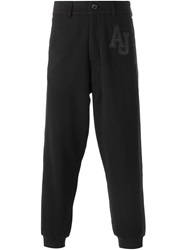 Armani Jeans Contrasting Band Track Pants Black
