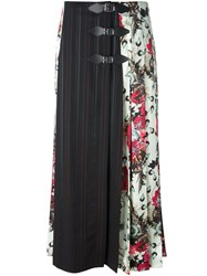 Antonio Marras Panelled Maxi Skirt Green