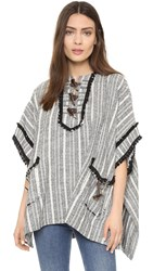 Derek Lam Poncho With Toggle Detail Midnight Soft White