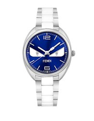 Fendi Momento Bugs Diamond Accented Watch F216033004d1 Blue