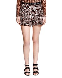 The Kooples Leopard Print Crepe Shorts