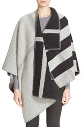 Women's Burberry Brit Check Wool And Cashmere Cape