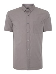 French Connection Kwandi Check Slim Fit Short Sleeve Shirt Red