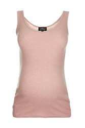 Topshop Maternity Rib Vest Pinky Nude