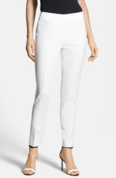 Petite Women's Vince Camuto Side Zip Pants New Ivory