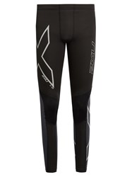 2Xu Wind Defence Compression Performance Leggings Black Multi