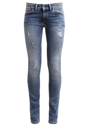 Marc O'polo Slim Fit Jeans Worn Out Blue Denim