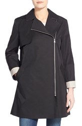 Women's Cole Haan Moto Swing Coat Black