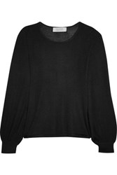Goat Cashmere And Silk Blend Sweater Black