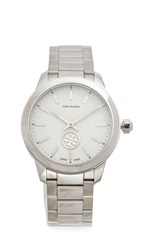 Tory Burch Collins Watch Ivory Silver