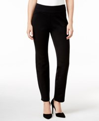 Charter Club Petite Cambridge Tummy Control Slim Leg Pants Only At Macy's Deep Black