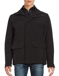 Weatherproof Zip Front Waterproof Jacket Black