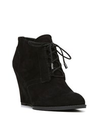 Franco Sarto Lennon Suede Wedge Booties Black