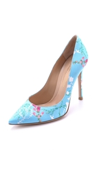 Mary Katrantzou X Gianvito Rossi Foliage Pumps Sky