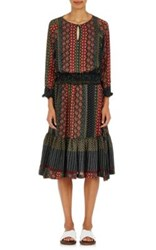 Warm Women's Gather Peasant Dress Black