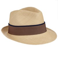 Christys' Hoxton Trilby Panama Hat Natural