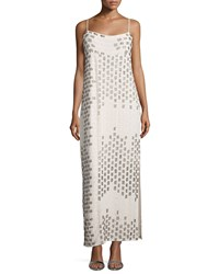 Haute Hippie Ombre Embellished Striped Gown White