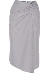 Bailey 44 La Serra Gathered Cotton Poplin Skirt Gray