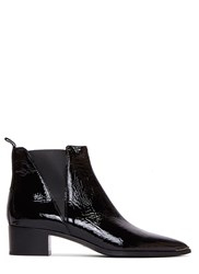 Acne Studios Jensen Naplack Patent Grained Ankle Boots Black
