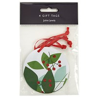 John Lewis Abstract Leaves Gift Tags Pack Of 4