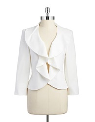 Nipon Boutique Ruffled Blazer Vanilla Ice