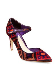 Brian Atwood Mia Point Toe Pumps Multi Colored