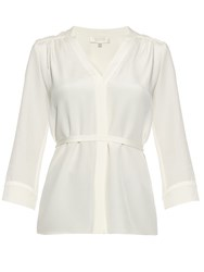 Goat Brittany Belted Silk Crepe Shirt