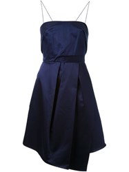Carven Spaghetti Strap Dress Blue