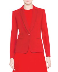 Giorgio Armani Notch Collar One Button Jacket Red
