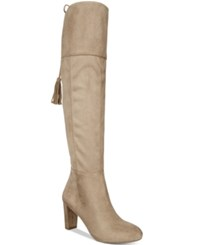 Inc International Concepts Women's Hadli Wide Calf Over The Knee Boots Only At Macy's Women's Shoes Warm Taupe
