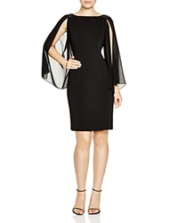 Js Collections Sheer Chiffon Sleeve Dress Black