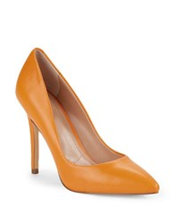 Charles By Charles David Pact Leather Stiletto Pumps Orange