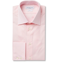 Richard James Pink Cotton Poplin Shirt