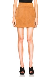 Frame Denim Suede High A Line Skirt In Neutrals Brown