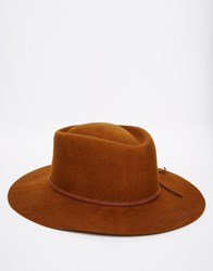 Brixton Westward Fedora Brown