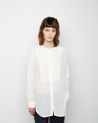 Raquel Allegra Button Down Tunic Top White