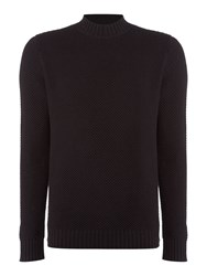 Label Lab Men's Goddard Waffle Tuck Stitch Knit Black