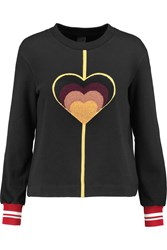 Mother Of Pearl Ambram Embroidered Cotton Sweatshirt Black