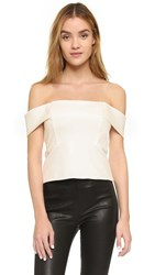 Mason By Michelle Mason Off The Shoulder Top Ivory