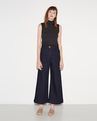 M. Martin Denim Crop Wide Leg Rinse