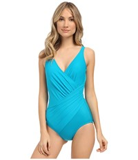 Miraclesuit Must Haves Oceanus One Piece Lagoon Women's Swimsuits One Piece Blue
