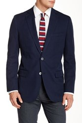 Brooks Brothers Blue Notch Lapel Two Button Sports Coat