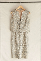 Urban Renewal Vintage Champagne Brocade Two Piece Dress Assorted