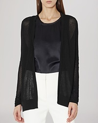 Reiss Sweater Pru Textured Cardigan Black