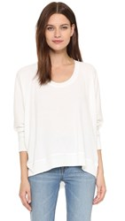 Alexander Wang Soft French Terry Sweatshirt White