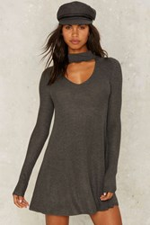 Nasty Gal Piece Of Mine Knit Dress Gray